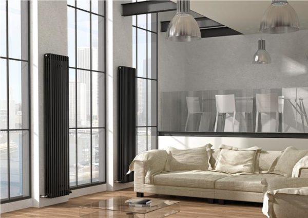 Вертикальные радиаторы в интерьере