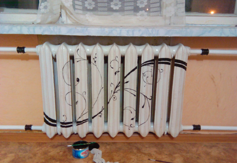 Декор радиатора отопления своими руками фото
