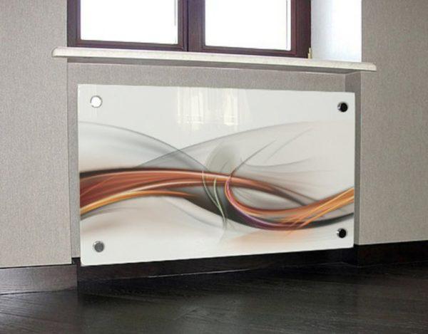 Стеклянные экраны для радиаторов отопления
