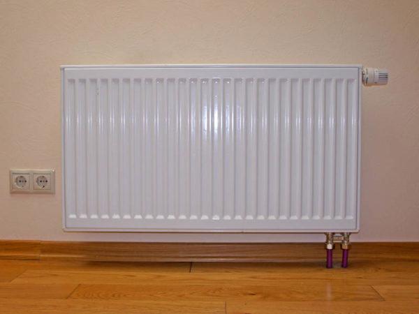 Нижний способ подключения радиатора