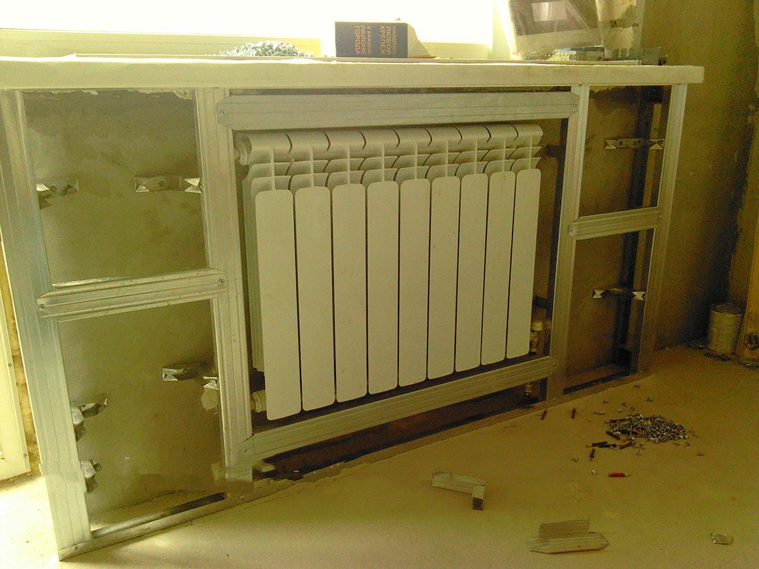 Закрыть радиатора отопления своими руками 724