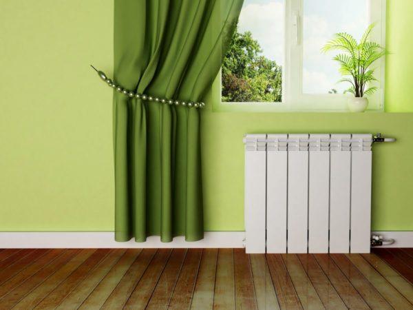 Биметаллические секционные радиаторы отопления в интерьере