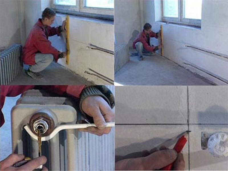 Установка отопления доме ключ
