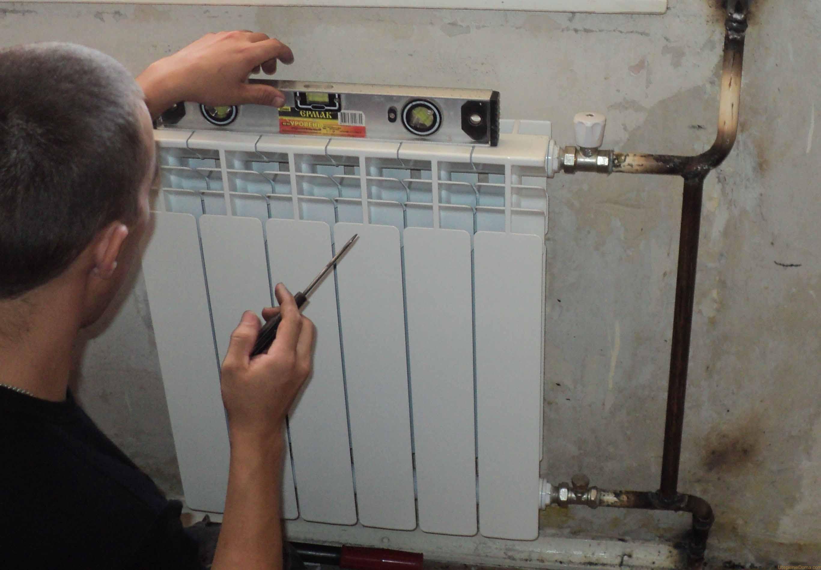 Установка батарей отопления — пошаговая инструкция