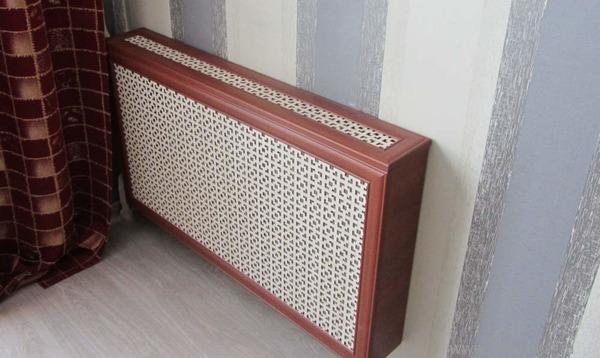 Навесная решетка с боковинками и крышкой