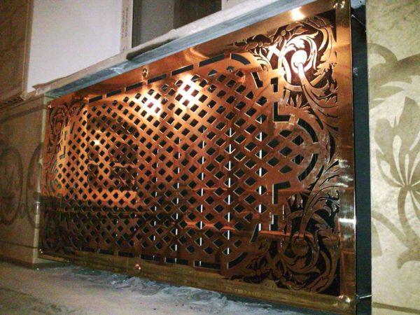 Декоративный экран из металла