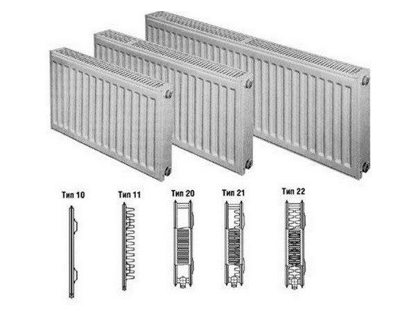 Типы стальных радиаторов отопления