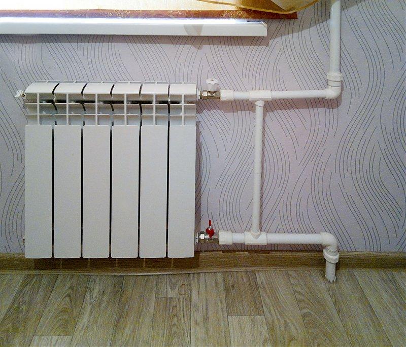 Установка байпаса с терморегулятором