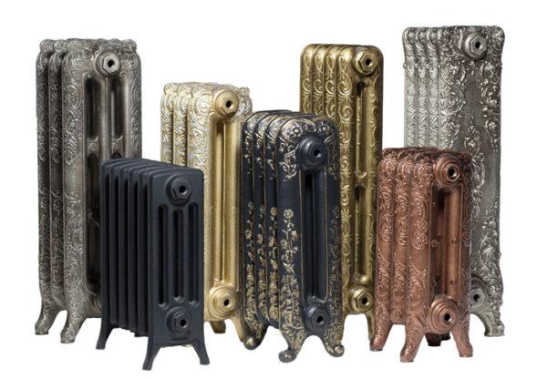 Дизайнерские ретро-модели чугунных батарей