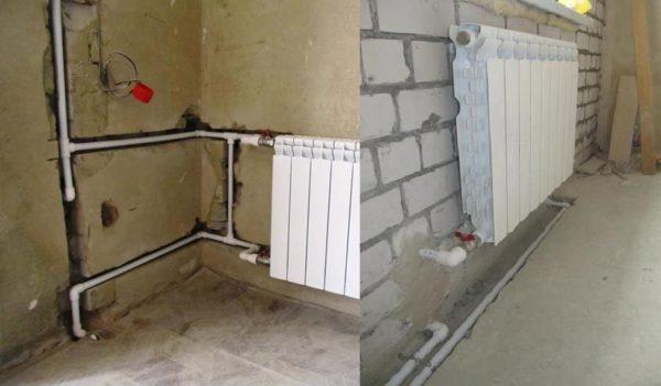 Прячем трубы теплосистемы под покрытия стен