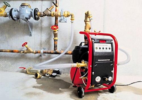 Опрессовка системы отопления.