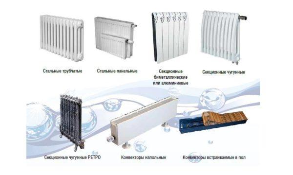 Виды водяных радиаторов