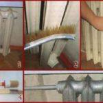Этапы окрашивания батареи отопления