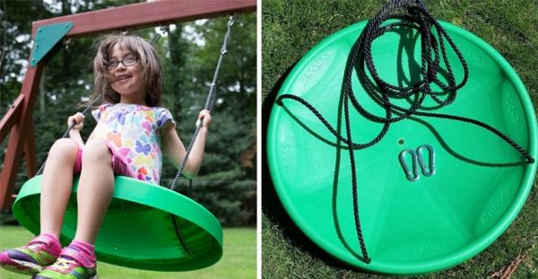 Детские уличные качели для дачи и особенности их конструкций