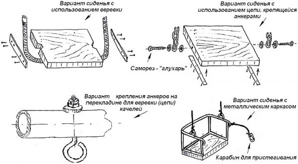 Качели для дачи своими руками: фото и пошаговые инструкции