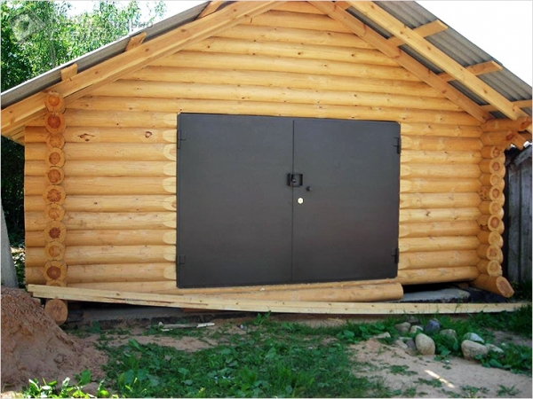 Деревянный дом с гаражом своими руками 784