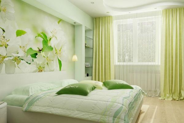 Дизайн фотообоев для спальни в интерьере фото 141