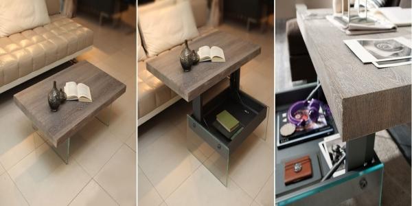 Журнальные столики-трансформеры — гибридная мебель, которая выполняет множество функций