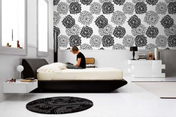интерьер спальни и обои варианты оригинального оформления помещения