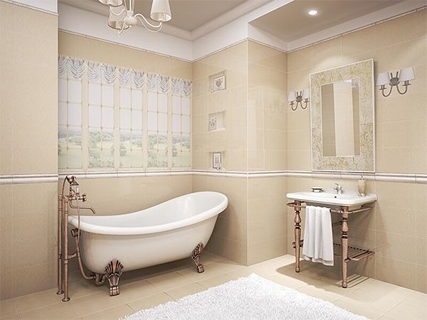 дизайн керамической плитки в ванной фото