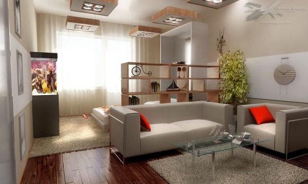 Дизайн гостиной совмещенной со спальней – отдых и развлечения в одной комнате