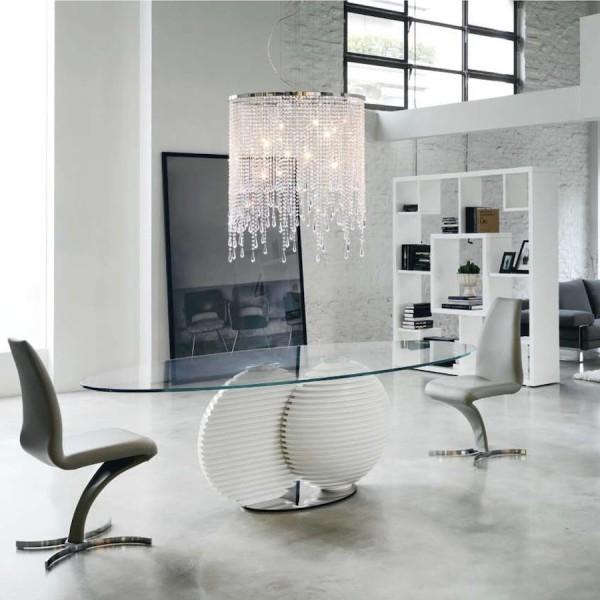 Стол овальный стеклянный: оригинальный кухонный атрибут