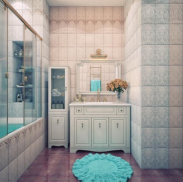 Отделываем ванную комнату с помощью керамической плитки — максимум фантазии