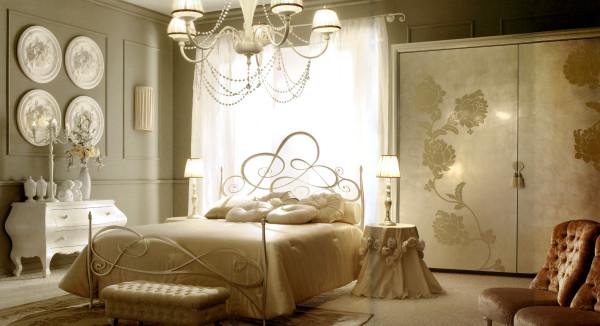 Итальянские элитные спальни: краткий обзор мебельных гарнитуров и текстиля