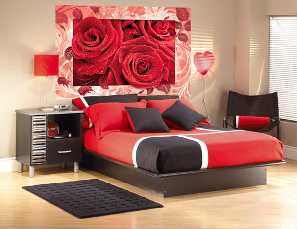 Интерьер спальни с фотообоями – особенности оформления