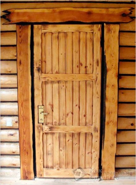 Дверь для бани и сауны своими руками