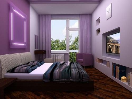 Дизайн узкая и длинная спальня дизайн