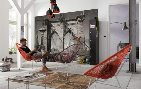 3Д фотообои для стен: фото-каталог интерьеров, дизайнерские приемы в оформлении