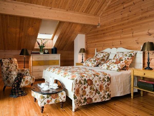Дизайны интерьера спальни в загородном доме | 450x600